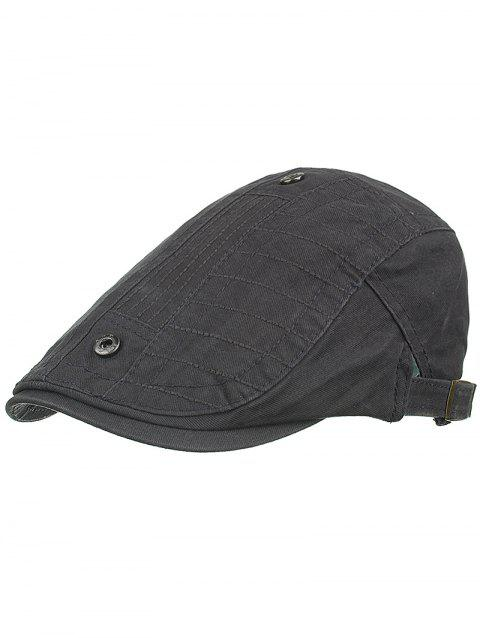Outdoor Button Decorative Sunscreen Hat - GRAY WOLF