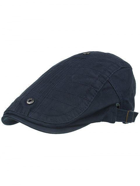 Outdoor Button Decorative Sunscreen Hat - DARK SLATE BLUE