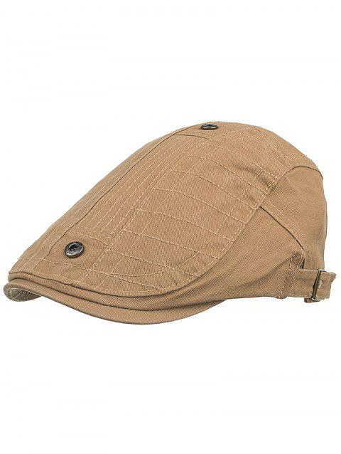 Outdoor Button Decorative Sunscreen Hat - CINNAMON