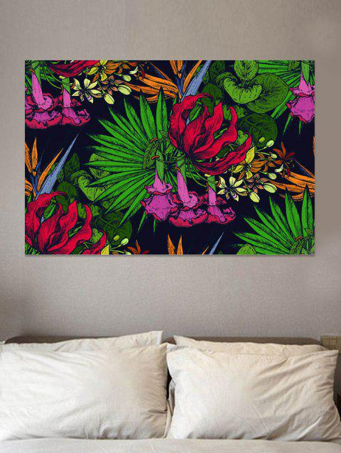 Tropical Blossom Print Wall Art Sticker - multicolor W20 INCH * L27.5 INCH