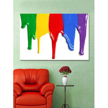 Colorful Paint Print Wall Art Sticker - multicolor W20 INCH * L27.5 INCH