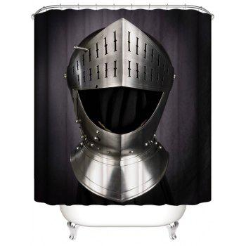 Metal Helmet Print Waterproof Bathroom Shower Curtain - multicolor W59 INCH * L71 INCH