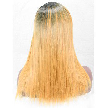 Long Side Parting Straight Colormix Party Synthetic Wig - multicolor