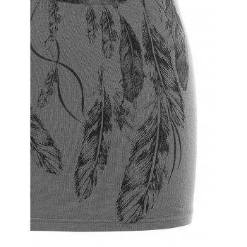 Dreamcatcher Printed Casual Tank Top - GRAY L