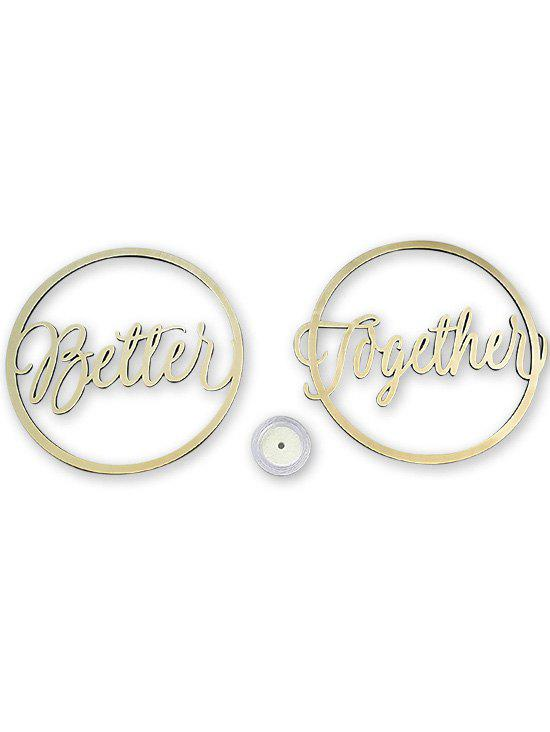 Better and Together Chair Signs Wooden Wedding Decoration - CORNSILK