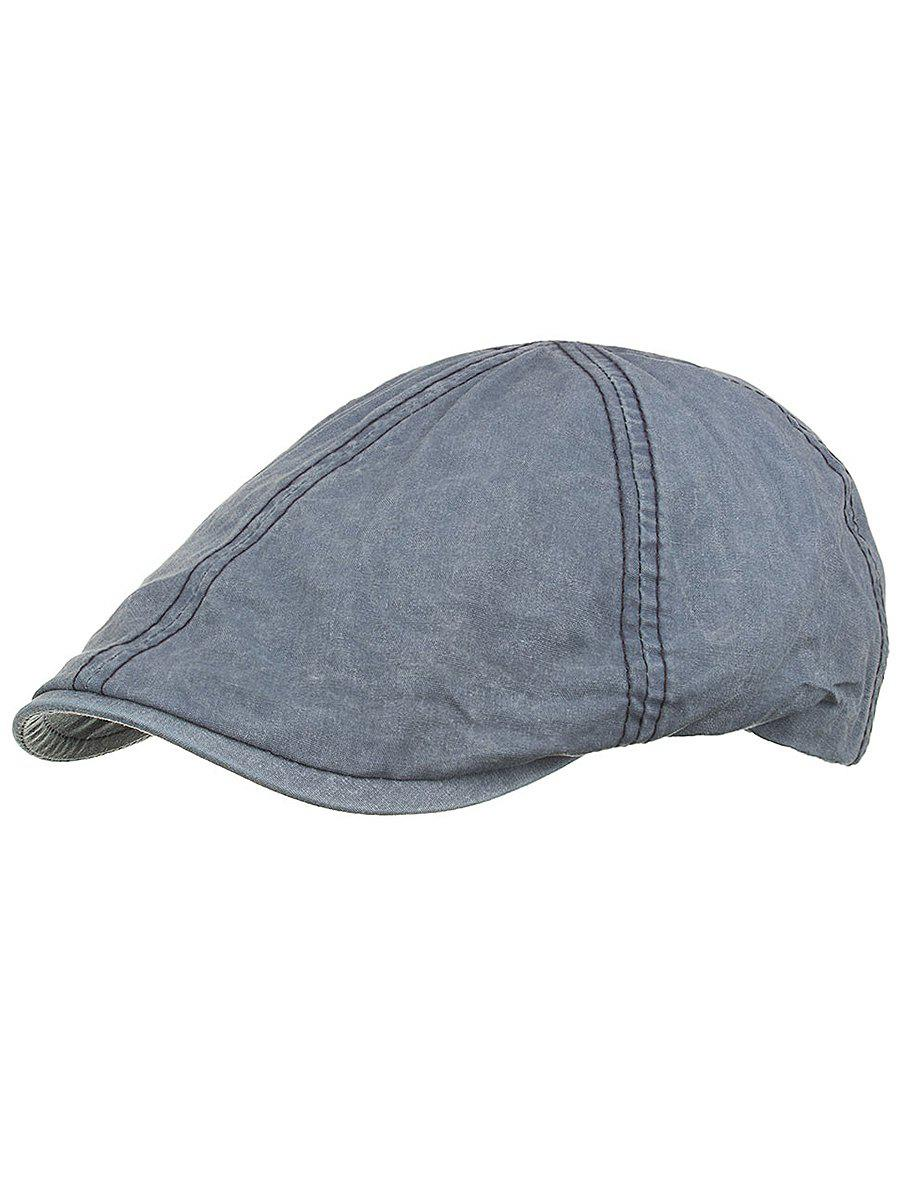 Line Embroidery Washed Dyed Jeff Hat - SLATE BLUE