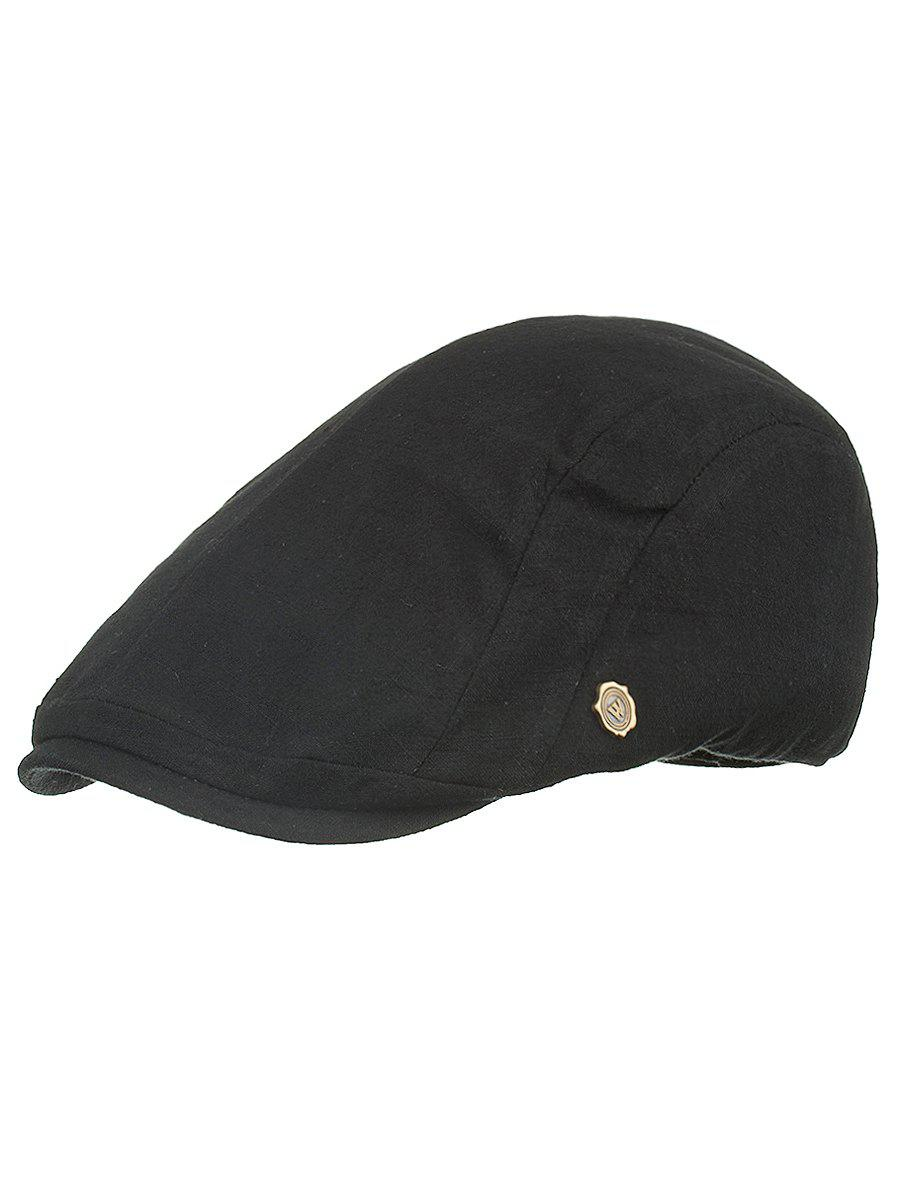 Outdoor Metal M Decorative Cabbie Hat - BLACK