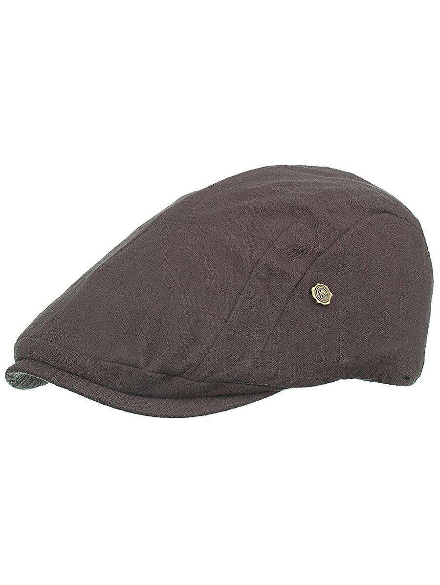 Outdoor Metal M Decorative Cabbie Hat - ASH GRAY