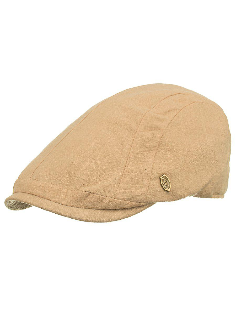 Outdoor Metal M Decorative Cabbie Hat - LIGHT KHAKI