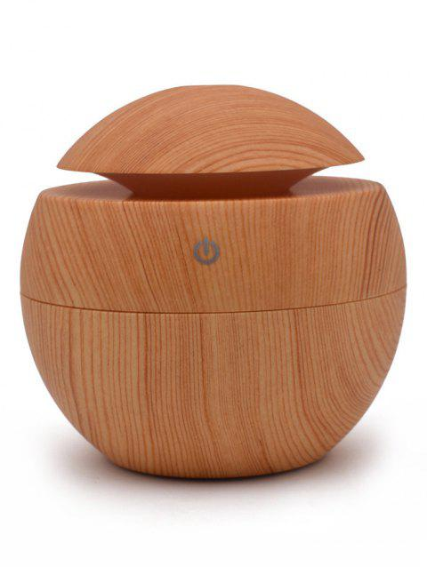 USB Cool Mist Humidifier 130ML Mini Ultrasonic Aroma Essential Oil Diffuser - LIGHT BROWN
