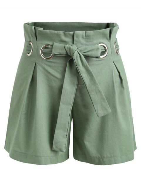 Bow Tie Belt Mini Shorts - HAZEL GREEN XL