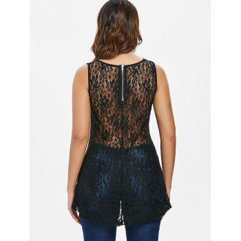 Rivet Shoulder Lace Back Tank Top - BLACK M