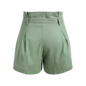 Bow Tie Belt Mini Shorts - HAZEL GREEN S