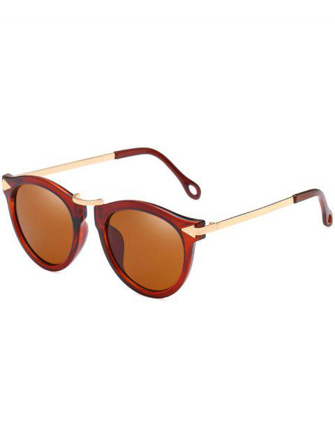 Anti UV Arrow Decorative Clear Lens Sunglasses - LIGHT BROWN
