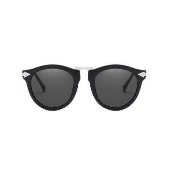 Anti UV Arrow Decorative Clear Lens Sunglasses - NIGHT