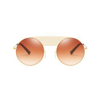 Unique Crossbar Decorative Street Snap Sunglasses - CAMEL BROWN
