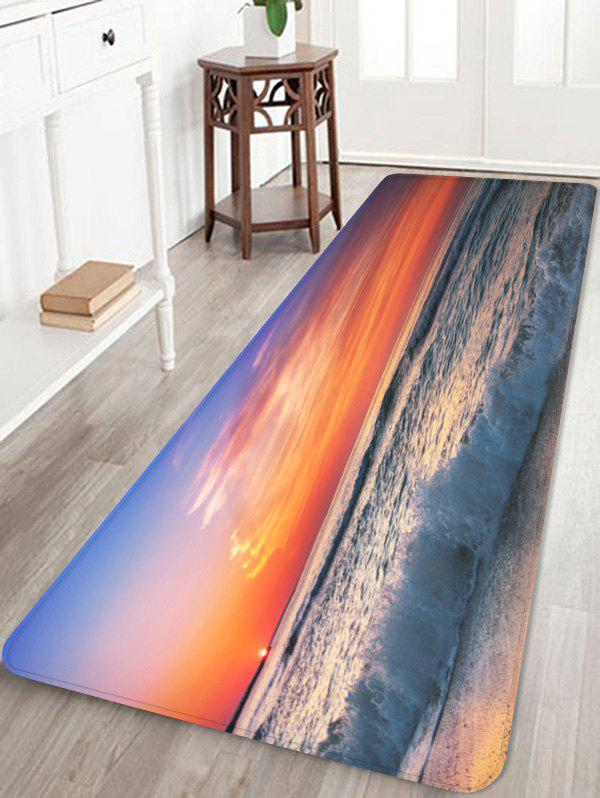 Sunset Beach Sea Waves Scenery Printed Area Rug ultra bright cree xml t6 3800lumens powerful led flashlight cree led torch zoomable lanterna for 3xaaa or 1x18650 free shipping