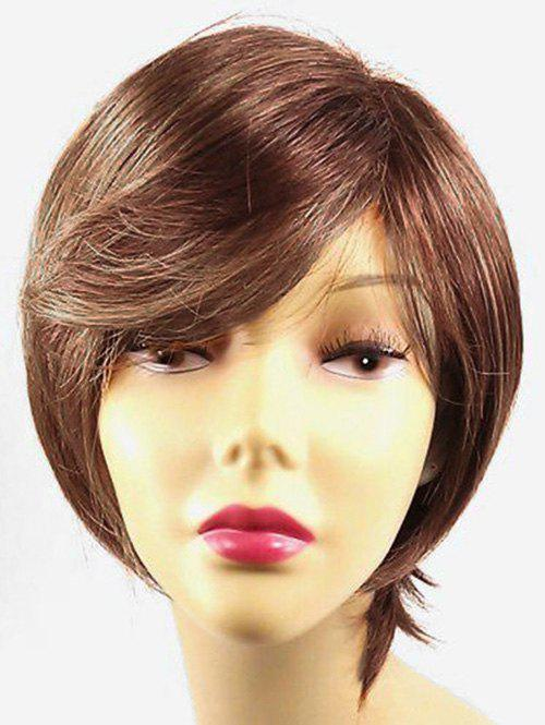 Short Side Bang Straight Party Colormix Synthetic Wigs - TANGERINE