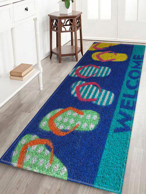 40 Colorful Flip Flop Print Non Slip Floor Rug BLUE W INCH L INCH Adorable Flip Flop Throw Blanket