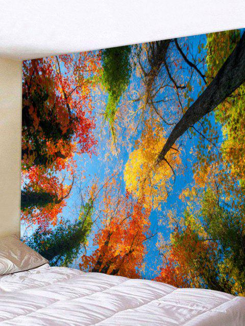 Towering Trees Print Wall Hangings Tapestry - multicolor W91 INCH * L71 INCH