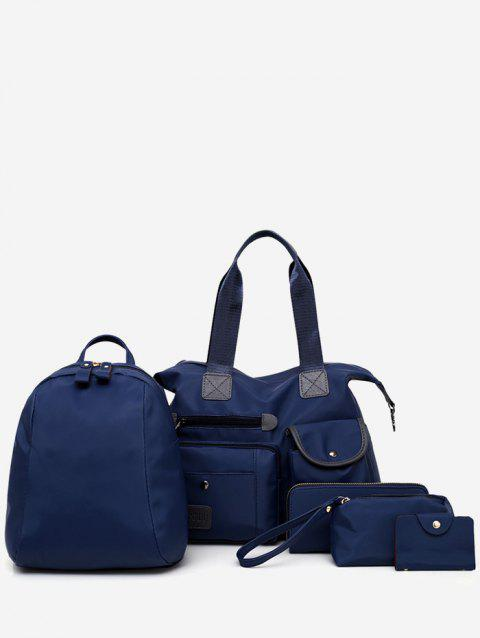 Durable Minimalist 5 Pieces Shoulder Bag for Travel - DEEP BLUE