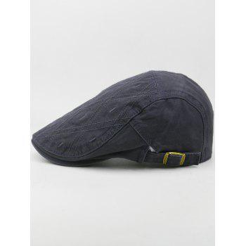 Outdoor Rhombus Embroidery Cabbie Hat - GRAY