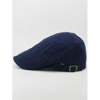 Outdoor Rhombus Embroidery Cabbie Hat - DEEP BLUE