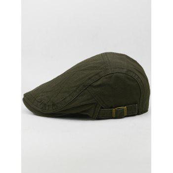 Outdoor Rhombus Embroidery Cabbie Hat - ARMY GREEN