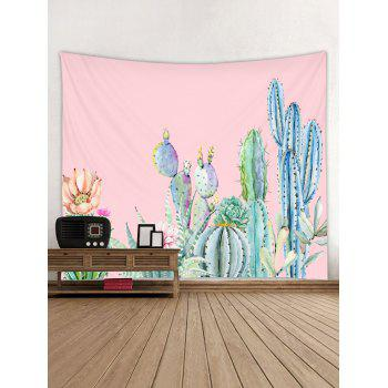Cactus Flower Print Tapestry Wall Art Hanging Decoration - ROSE W91 INCH * L71 INCH