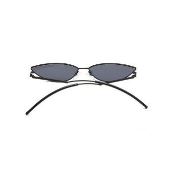 Anti UV Metal Frame Clear Lens Catty Sunglasses - BLACK