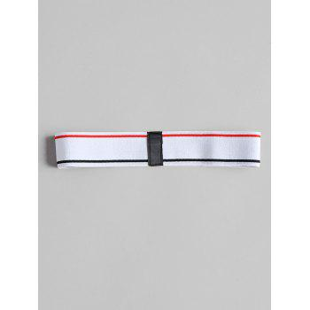 USA Graphic Athletic Workout Sweat Headband - WHITE ONE SIZE