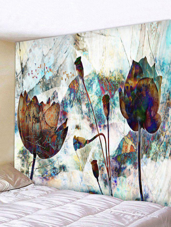 Фото Abstract Floral Print Wall Hangings Tapestry