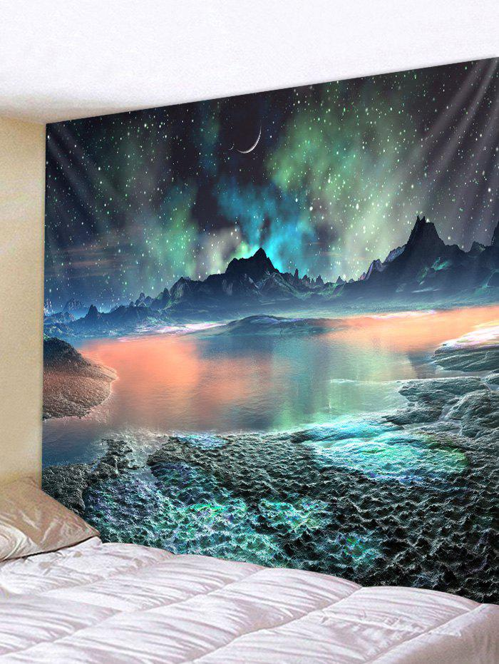 Starry Sky Island Print Tapestry Wall Art Hanging Decoration wall hanging art colorful starry print tapestry