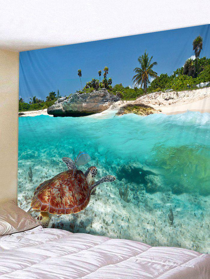 Sea Turtle Print Tapestry Wall Art Hanging Decoration valentine s day heart starlight print tapestry wall hanging decoration