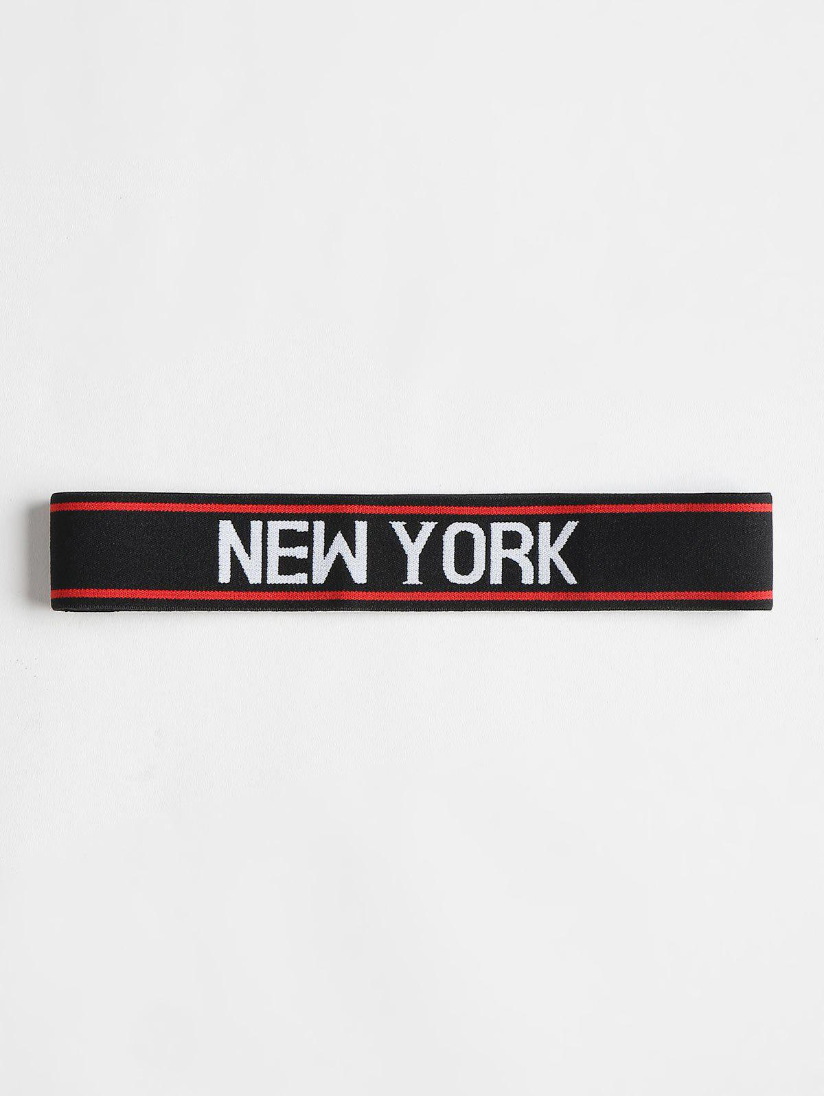 Graphic Athletic Workout Sports Headband - BLACK ONE SIZE