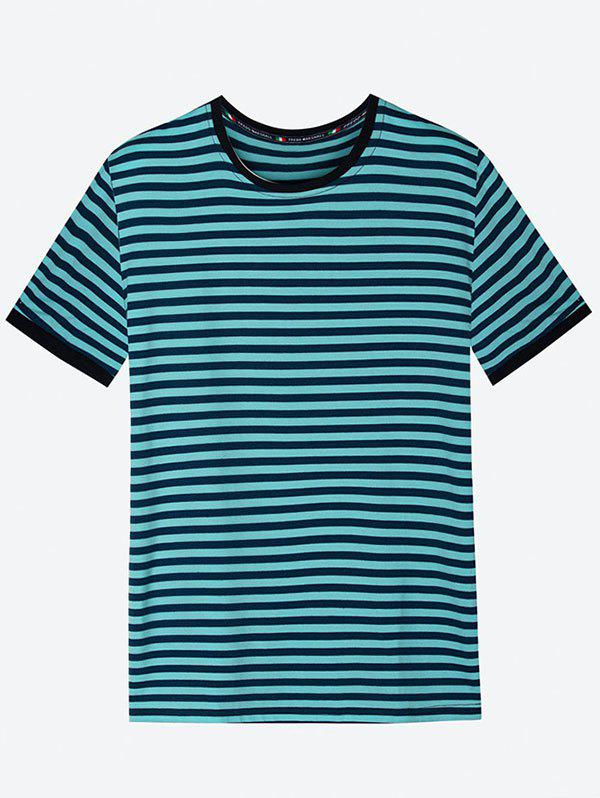 Contrast Color Stripe Tee Shirt