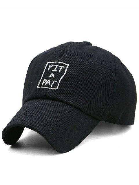 PIT A PAT Embroidery Sunscreen Hat - BLACK