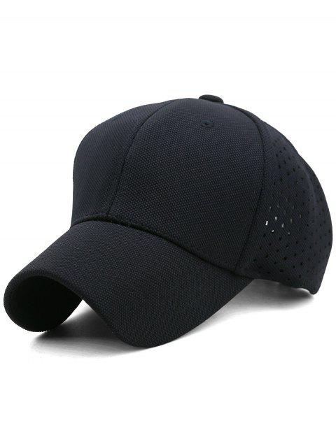 Solid Color Hollow Out Hunting Hat - BLACK