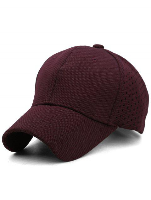 Solid Color Hollow Out Hunting Hat - FIREBRICK