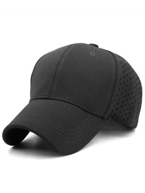 Solid Color Hollow Out Hunting Hat - DARK SLATE GREY