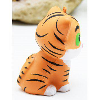 Cartoon Tiger Stress Relief Slow Rising Squishy Toys - YELLOW