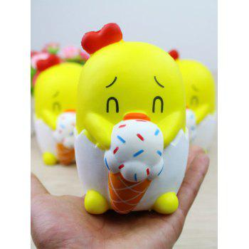 Cute Yellow Duck Squishy Toy Home Decor 1 Pcs - YELLOW