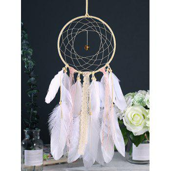 Home Decoration Feathers Hanging Dream Catcher - WHITE