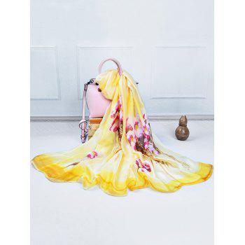 Soft Kapok Pattern Decorative Long Scarf - YELLOW