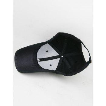 Sweetheart Embroidery Breathable Sunscreen Hat - BLACK