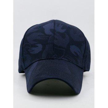 Outdoor Solid Color Adjustable Sunscreen Hat - DARK SLATE BLUE