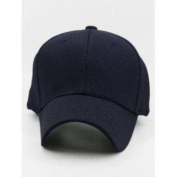 Solid Color Hollow Out Hunting Hat - DARK SLATE BLUE