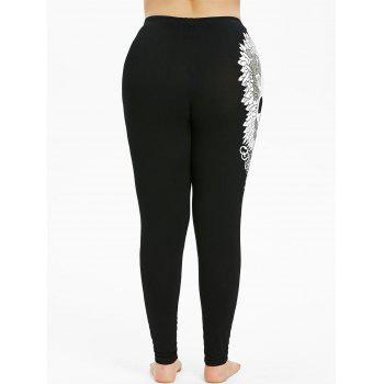 Plus Size Skull Leggings - BLACK 4X