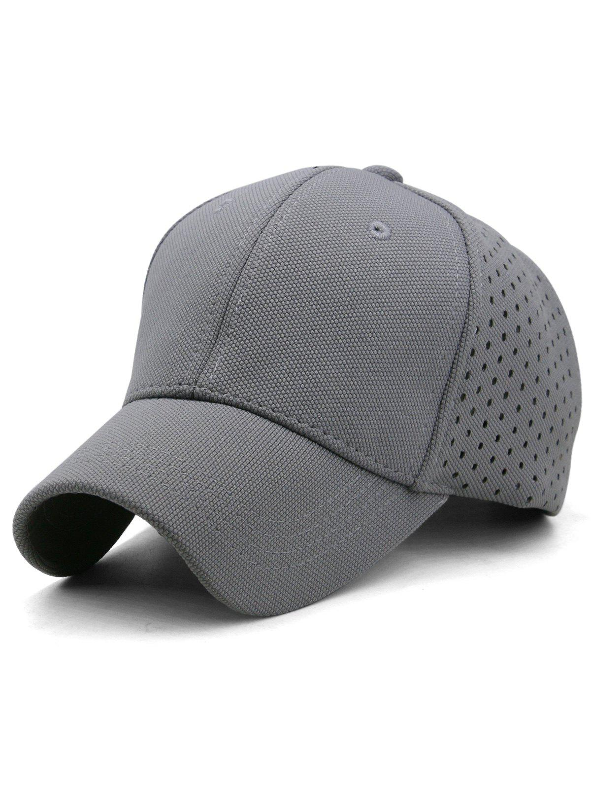 Solid Color Hollow Out Hunting Hat - GRANITE