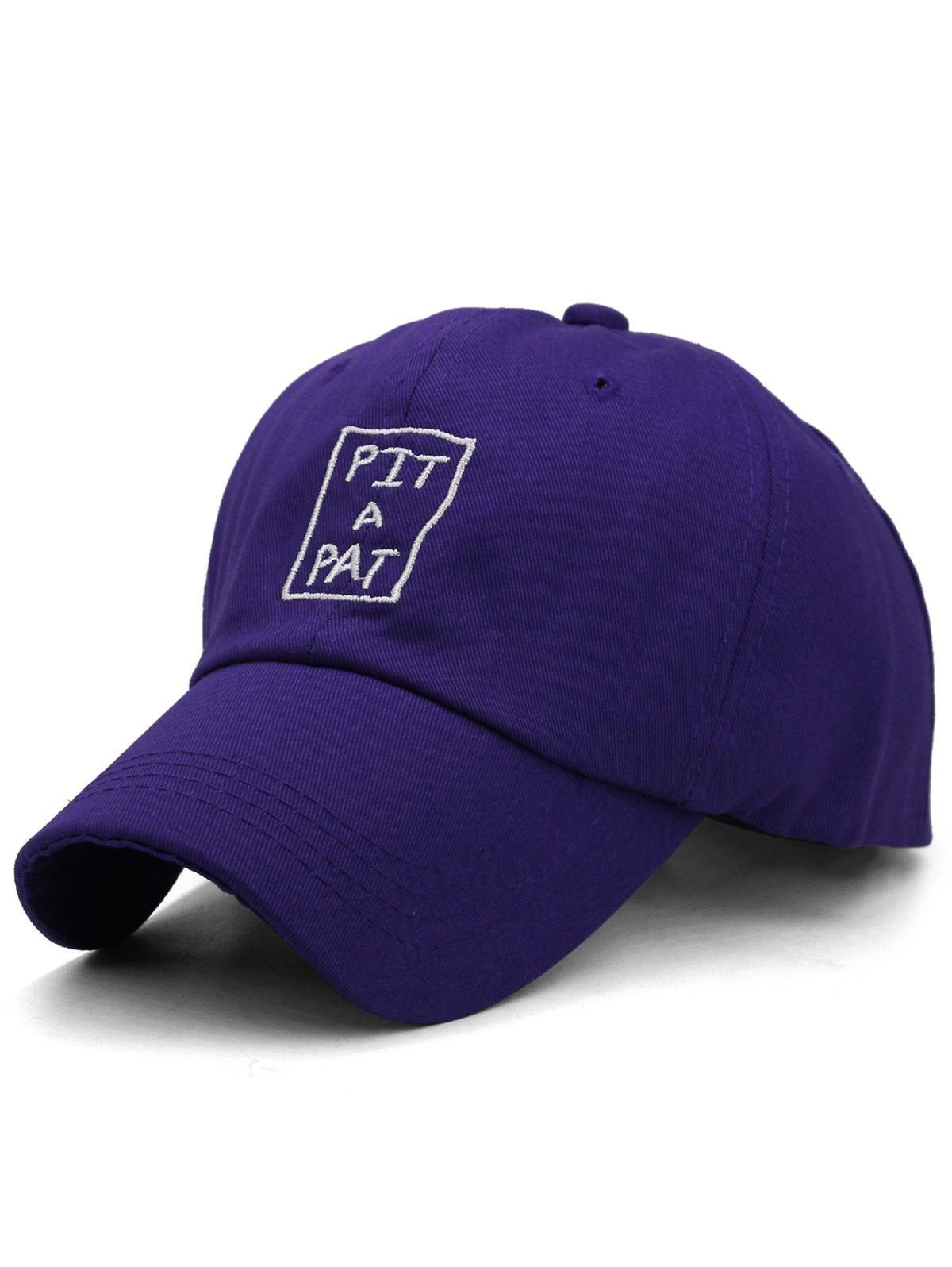 PIT A PAT Embroidery Sunscreen Hat - INDIGO
